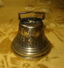 "VINTAGE SWISS BRASS CHIANTEL FONDEUR COW BELL 1878 SAIGNELEGIER 4 1/2"" DIAMETER"