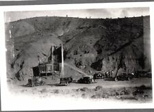 VINTAGE 1920'S CALIFORNIA MINE ROCK CRUSHER MINERALS GOLD SILVER OLD CARS PHOTO