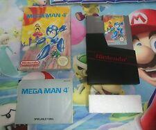 Juego Completo Nintendo Nes Megaman 4 Versión Pal B 100% Original Mega Man 4 CIB