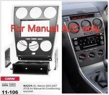 CARAV 11-106 2din Car Radio Dash Kit Face Plate Frame Panel for MAZDA 6 2002-07