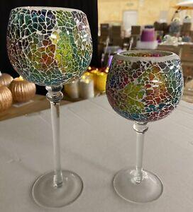 Glaskelch-Duo mit LED-Votivkerzen
