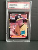 1987 Donruss Mark McGwire Rookie RC PSA 9 Mint #46