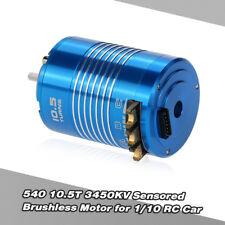High Performance 540 10.5T 3450KV Sensored Brushless Motor for 1/10 RC Car R7R1