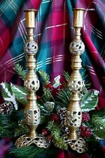 VTG~UNIQUE~COOL~BRASS BEEHIVE SCREW IN CANDLEHOLDERS FOR DIFFERENT SIZES & LOOKS