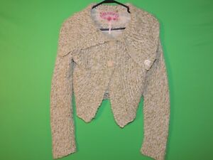 Free People Womens Size M Medium Long Slv Button Front Sweater