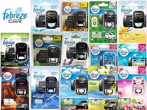 Febreze Car Air Freshener Starter Kit Car Caravan Vehicle Vent Clip On - Choose