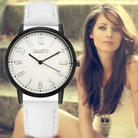 Women Fashion Watch Stainless Steel Leather Analog Quartz Girls Dial Wrist Watch