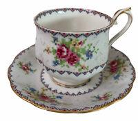Royal Albert Petit Point Bone China Tea Cup Saucer England 778676 Vintage