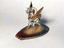 Art Glass Pegasus w/Golden Wings