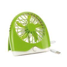 GREEN BATTERY / USB Ventilatore, velocità regolabile, su OFF SWITCH, ufficio scrivania NUOVO CON SCATOLA