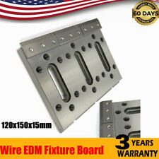 Wire Edm Fixture Board Stainless Jig Tool ternary fixt 120x150x15mm Silver Color