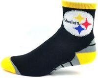 Pittsburgh Steelers NFL Football Deuce Quarter Socks Black Gold Gray