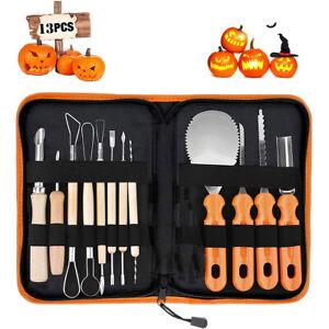 13PCS Pumpkin Carving Tools Set Steel Halloween Xmas DIY Sculpting Craft Kit AU