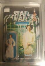 2004 Star Wars Trilogy AFA Graded Princess Lea Organa 90NM+ Unpunched MOC