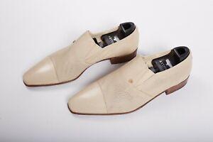 NWOB $2150 Artioli Ivory Loafers Leather Shoes 9,5UK / 10,5US / 43,5EU