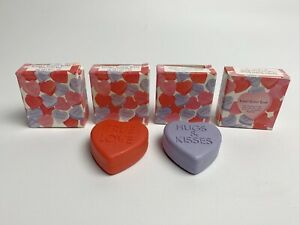 """4 Avon """"Sweet Scent Soaps"""" True Love red Hugs and Kisses purple Heart"""