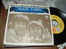 """TOMMY BOYCE & BOBBY HART """" ALICE LONG - P.O. BOX 9847 """" ITALY'68 DISCO CAMPIONE"""