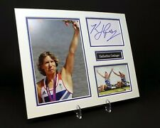 Katherine GRAINGER Signed Mounted Photo Display AFTAL Olympic Gold Medal Rower