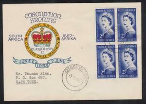 South Africa 1953 Coronation FDC First Day Cover to Cape Town - Observatory CDS
