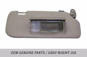 OEM Interior Hand Sun Visor Shade RH Gray for CHEVROLET 2006 - 2011 Captiva