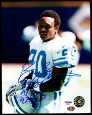 "Barry Sanders signed 8x10 auto ""89 ROY 91 MVP 97 MVP"" PSA/DNA"