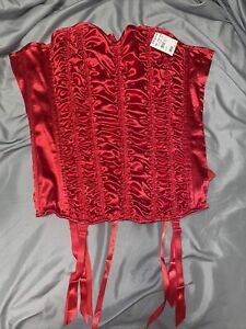 red corset fredericks of hollywood small nwt
