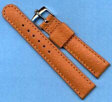 Steel Rolex Buckle & 18mm Wild Boar Strap For Vintage Bubbleback, Leather Lined