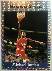 NATIONAL SPORTS HOLOGRAM MICHAEL JORDAN PROMO BASKETBALL CARD NBA NM BULLS #23 !