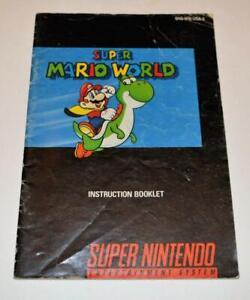 MANUAL ONLY Super Mario World Nintendo SNES Instruction Booklet