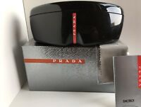 PRADA SPORT Eyeglasses Sunglasses Black Hardshell Case w/new original packaging