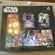 Star Wars Original Trilogy Jigsaw Puzzle 4 Pack Disney Buffalo Games