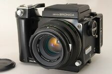 【EXC+++++】Zenza Bronica ETR w/ MC 75mm f/2.8, Grip, Film Back from Japan #127