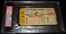 1955 WORLD SERIES GAME 7 TICKET BROOKLYN DODGERS 1ST WORLD CHAMPIONS VERY RARE