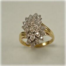 Diamond set Cluster Ring in 9 carat Gold
