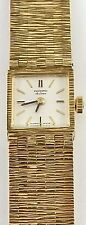 9ct Solid yellow gold Record Deluxe Swiss ladies wrist watch Good Working Order