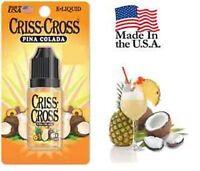 Criss Cross Vape Vapor USA 10ML Pina Colada 0 mg No Nicotine - $4.99