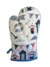 Cotton Single Oven Glove Gauntlet Baking Cooking Hot Holding Trend Nautical Sea