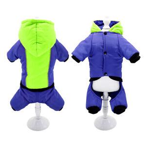 Pet Dog Jumpsuit Waterproof Reflective Hoodie Winter Coat for Small Medium Dogs