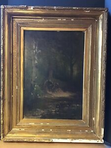 Original Thomas Hill Oil Painting Signed Dated 1870 Hudson River Valley antique