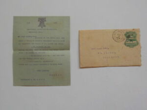 Antique Letter 1876 Centennial Exposition Philadelphia Machinery Hall Cover VTG