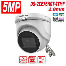 HIKVISION 5MP Dome Camera DS-2CE76H0T-ITMF HD Analog 2.8mm IR 30m D-WDR IP67