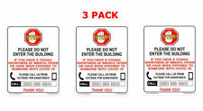 3 Pack Do Not Enter Without Mask Or Call In For Service Sign For Businesses