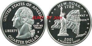 QUARTER   DE   DOLLAR   COMMEMORATIVE   NEW   YORK      USA    2001