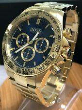 NEU Hugo Boss 1513340 Ikon Herren Uhr Armbanduhr Chronograph Edelstahl Gold Blau