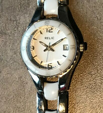 RELIC Womens Watch ZR11894 New Battery Stainless Steel Bin E