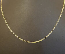 """9Carat Yellow Gold 18"""" Fine Square Curb Chain/Necklace (2mm Widest)"""
