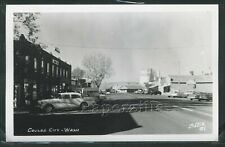 WA Coulee City RPPC 50's STREET a nice 1956 Buick Special & Sign by Ellis No.81