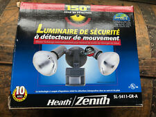 Heathco FLOODLITE MOTION GRY SL-5411-GR-A Light Fixtures: Porch/Security