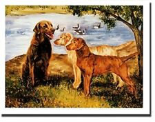 Cheasapeake Bay Retriever Trio Notecards 6 Note Cards 6 Envelopes Ruth Maystead