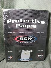"Protective Pages 100 Sheets 3-Pocket Currency 3 1/2"" x 8"""